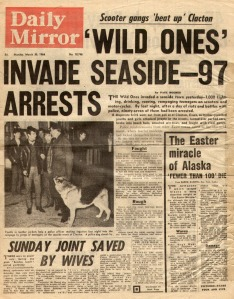 Daily Mirror (March 30, 1964) Wild Ones Invade Seaside
